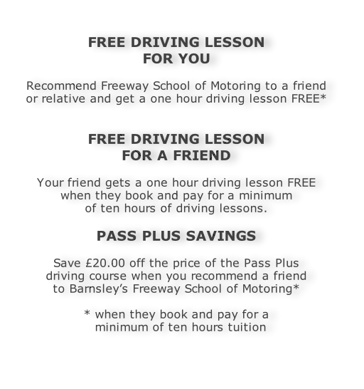 Earn free driving lessons with Freeway's recommendation scheme